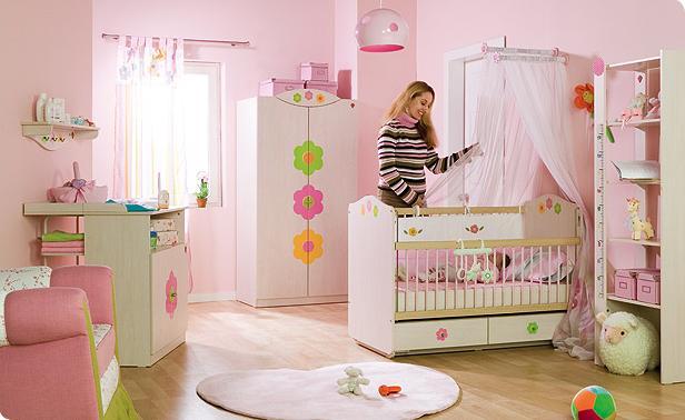 Ideias e fotos para decorar um quarto beb de menina for Habitacion para bebe