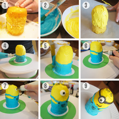 aniversario festa minions tutorial cupcake