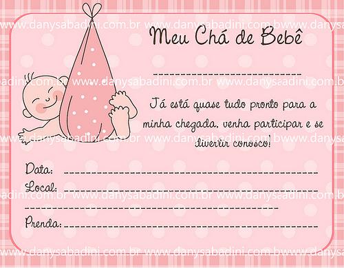 convite chá de bebê