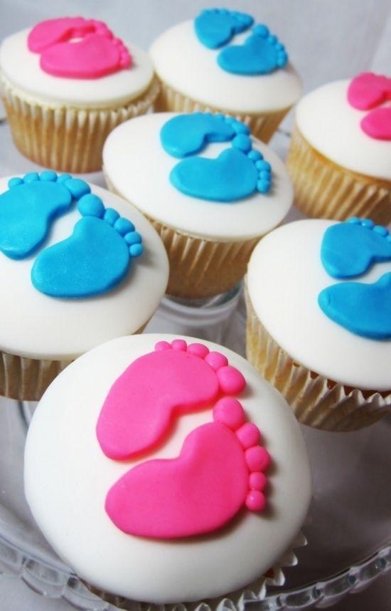 cupcakes cha revelacao bebe