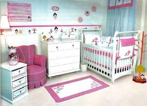 decoração-para-quarto-bebe-menina