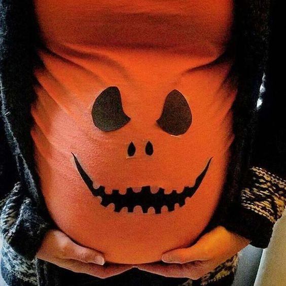 fantasias de halloween para gravidas abobora