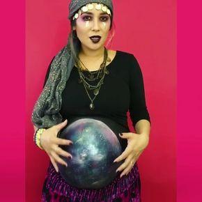 fantasias de halloween para gravidas vidente