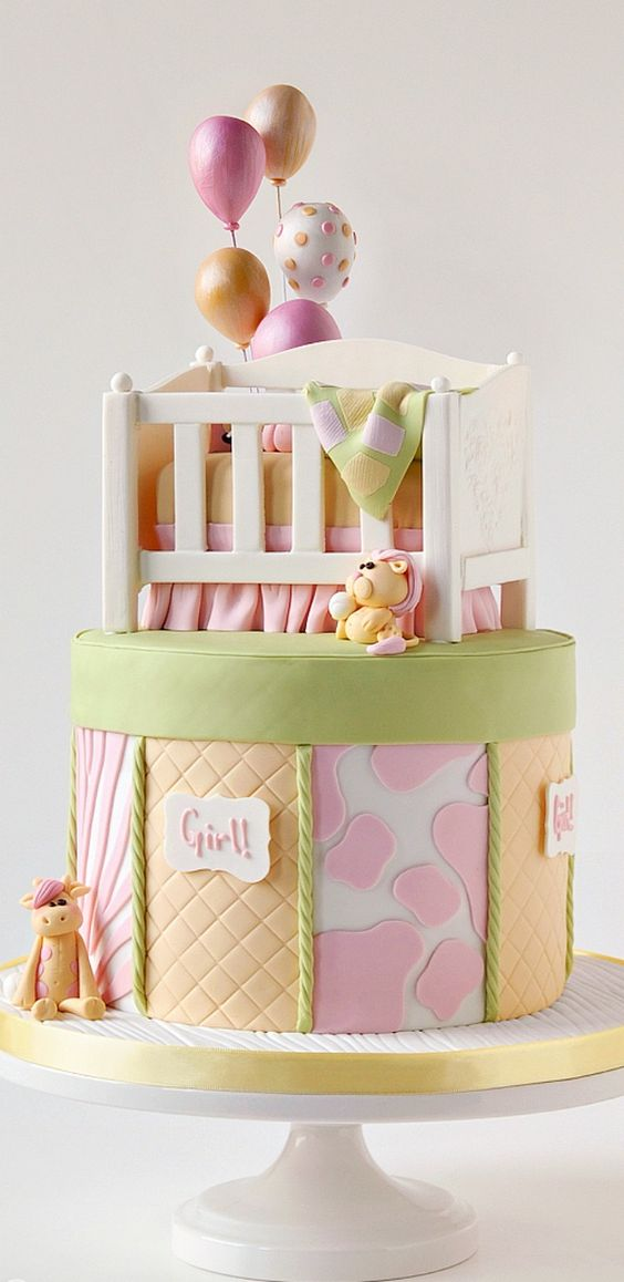 ideias bolos cha bebe 11