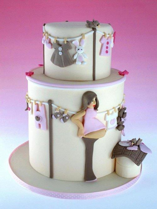 ideias bolos cha bebe 7