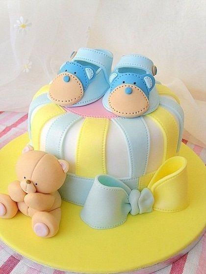 ideias bolos cha bebe