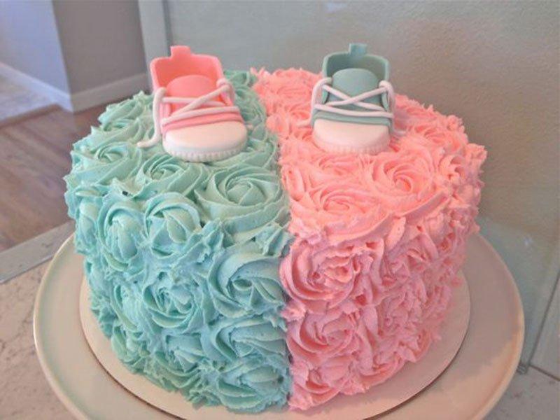 ideias decoracao cha bebe bolo