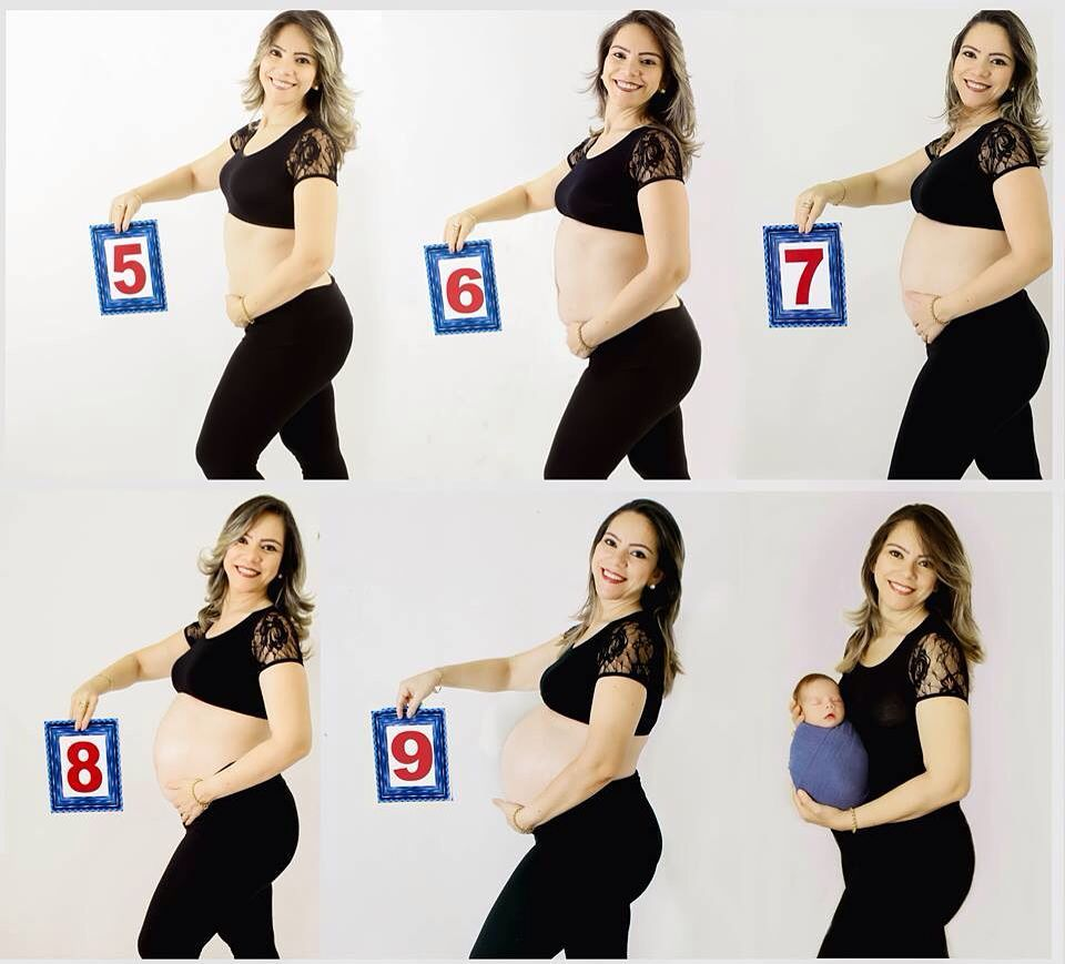 ideias registar crescimento barriga gravida 7